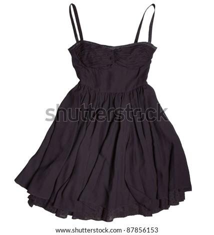 black dress for girls - stock photo