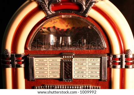 #1 black Jukebox - stock photo