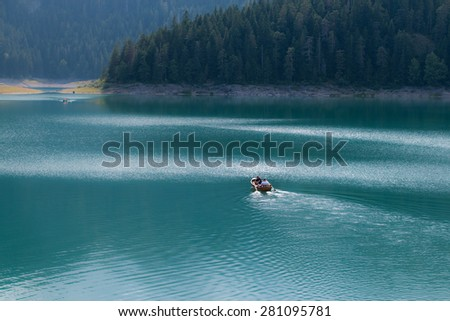 """Black lake"" near the town of Zabljak, deep in the mountains. Montenegro. Park ""Durmitor"""
