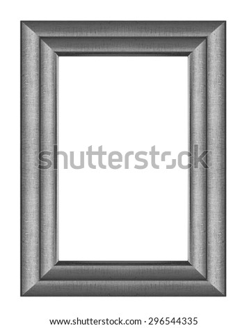 Black wood picture frame - stock photo