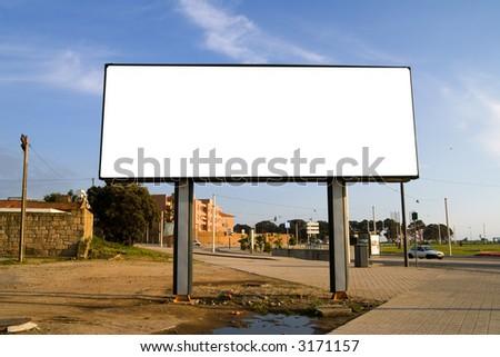 Blank billboard - stock photo