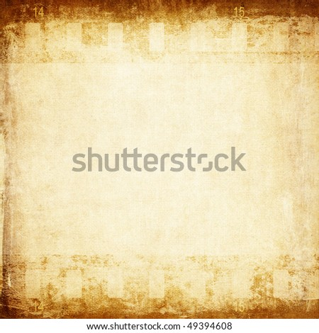Blank paper with film strip - stock photo