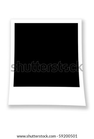 Blank photo frame isolated on white background - stock photo