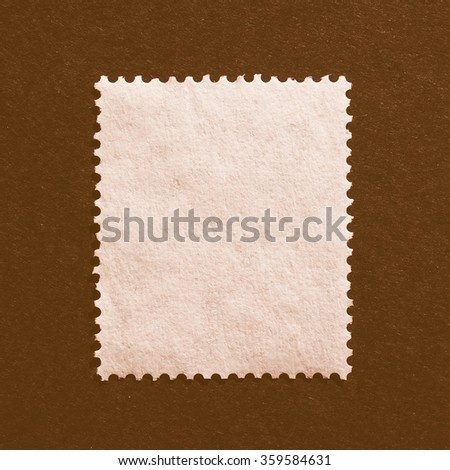 Blank rear side of a mail stamp vintage - stock photo