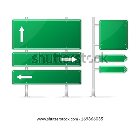 Blank Traffic Sign isolated on white