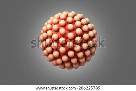 blastocyst isolated  on a dark background - stock photo