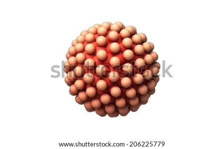 blastocyst isolated  on a white background - stock photo