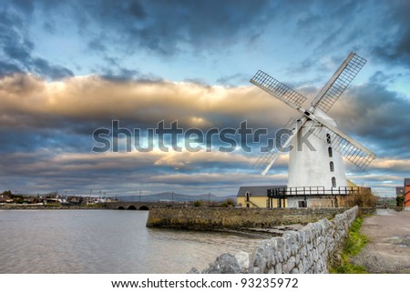 Blenerville windmill in Tralee, Co. Kerry in Ireland. - stock photo