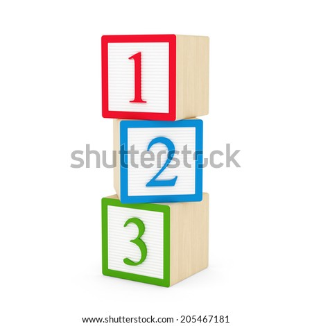 1,2,3 Blocks - stock photo