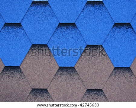blue and gray roof (tile) - stock photo
