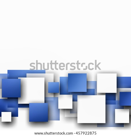 Blue and White Abstract hi-tech geometric background design
