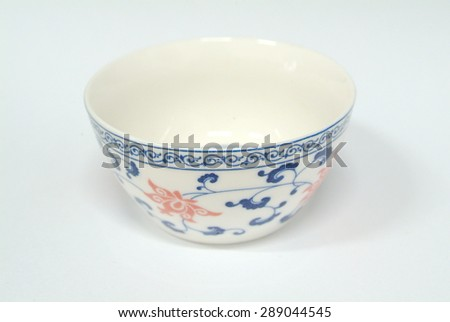 Blue and white bowl - stock photo