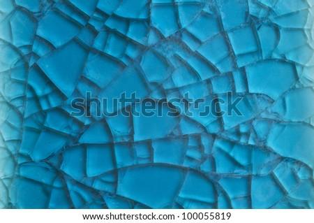 blue background with cracks - stock photo
