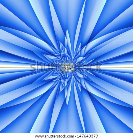 Blue bow, abstract background
