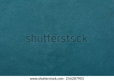 ?Blue cotton fabric texture background. - stock photo