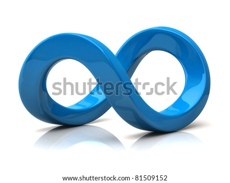 Stock Images similar to ID 147877337 - vector blue infinity symbol ...