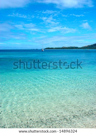Blue lagoon - stock photo