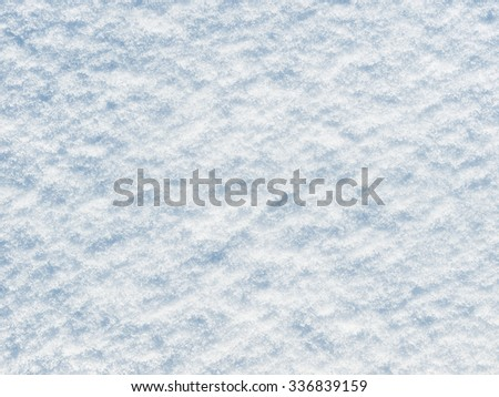 Blue snow background, texture, pattern - stock photo
