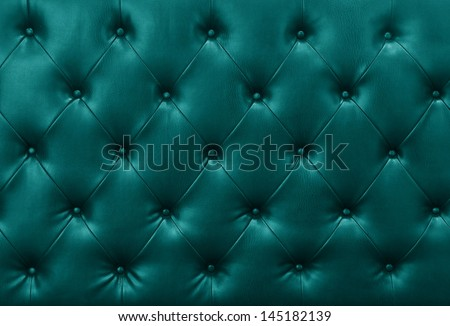 blue sofa leather background - stock photo