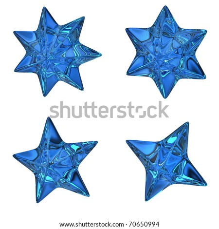 Blue stars - stock photo