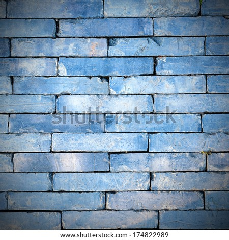 blue stone brick wall
