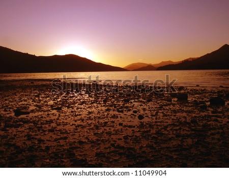 Blue Sunrise - stock photo