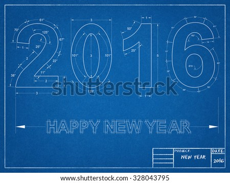 2016 Blueprint  - stock photo