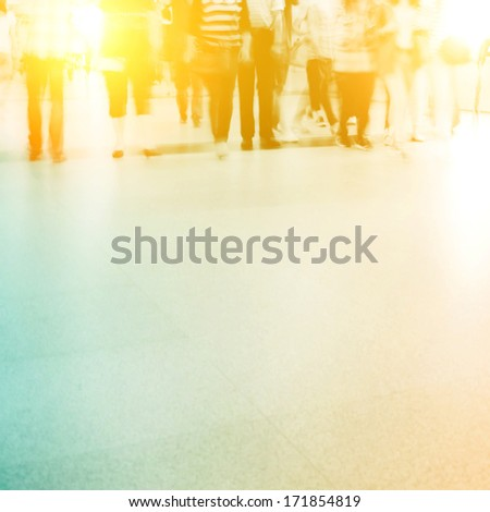 blur peoples - stock photo