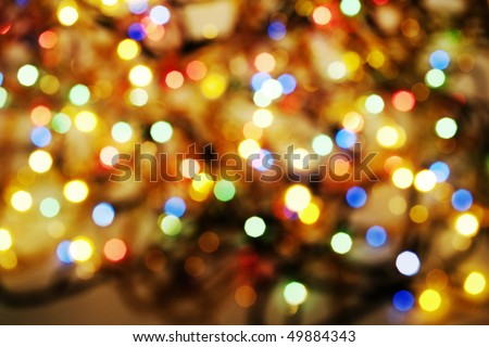 blurred fairy lights - stock photo