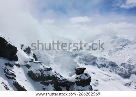 blurred iceberg - stock photo
