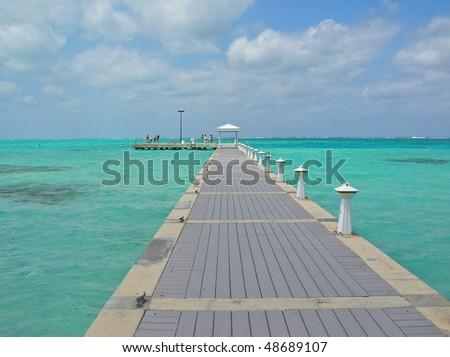Boardwalk to Paradise - stock photo