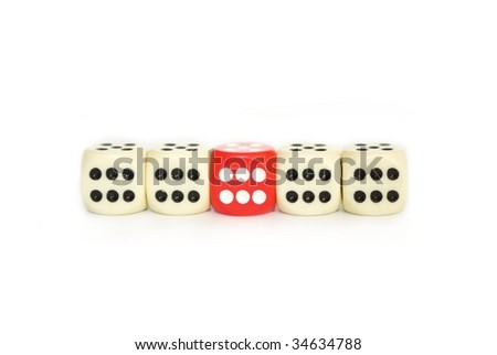 bone to game on white background - stock photo