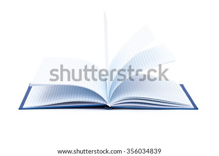 books on a white background