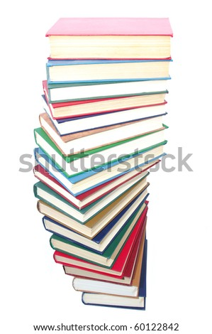 books on the white
