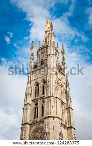 Bordeaux, France - Tower Pey Berland - stock photo