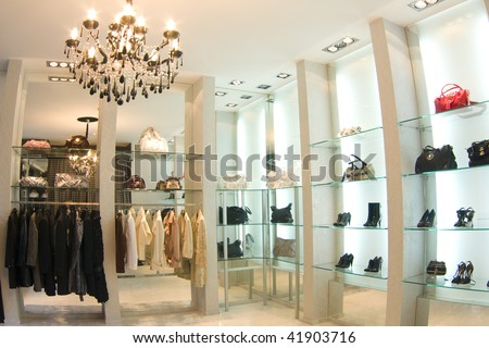 boutique interior - stock photo