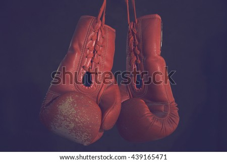Boxing Gloves boxer Thailand - stock photo
