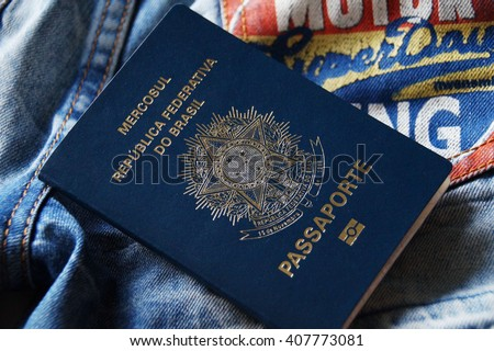 Brazilian Passport                                   - stock photo