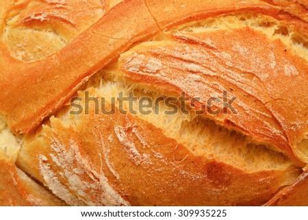 bread crust - stock photo