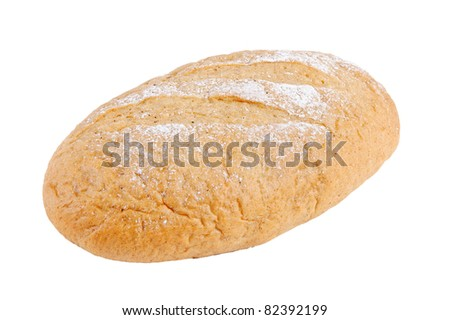 Bred isolated on white. - stock photo