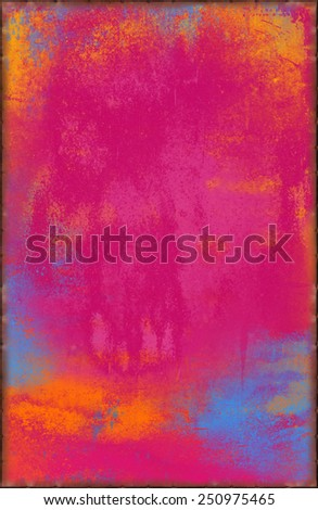 Bright Pink Texture with Rusty Seams Along Edges (Part of Vibrant Metal Textures set, which includes 12 textures that fit together perfectly to form a huge image. No noise, even lighting.) - stock photo