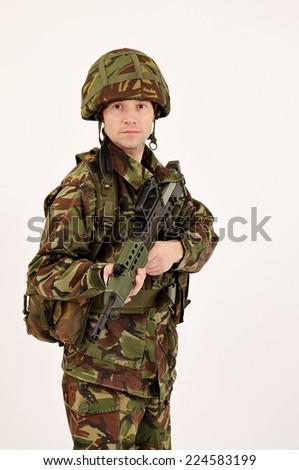 British Soldier - stock photo