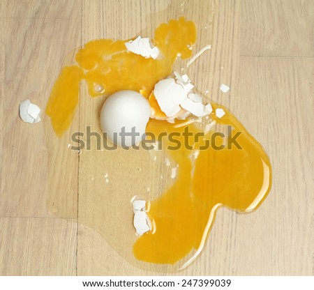 Broken egg   - stock photo