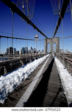 """Brooklyn Bridge"", ""New York"" - stock photo"