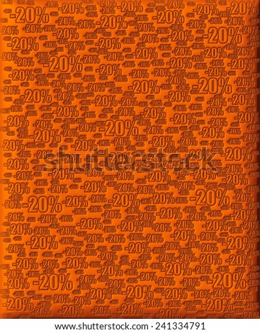 20% brown background - stock photo