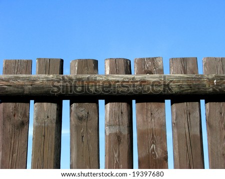 Brown fence - stock photo