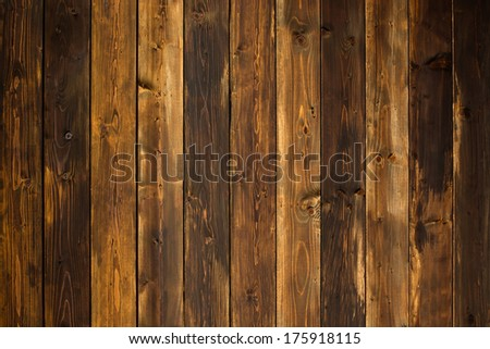 brown old wood texture with knot - stock photo