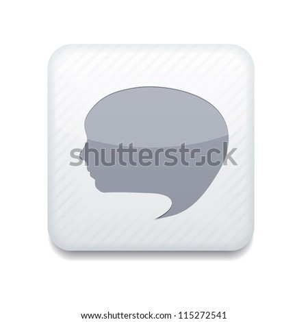 Bubble face icon. - stock photo