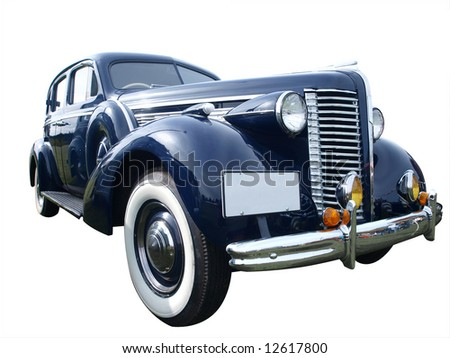 1939 Buick isolated with clipping path - stock photo