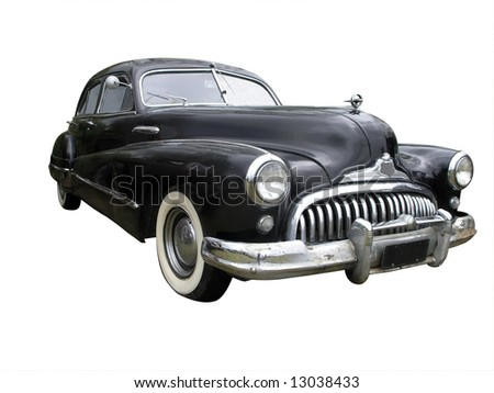 1947 Buick Roadster isolated with clipping path